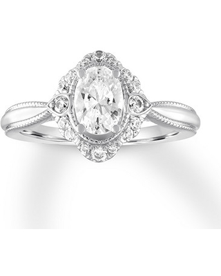 Jared Diamond Engagement Ring 7/8 ct tw Oval-cut 14K White Gold