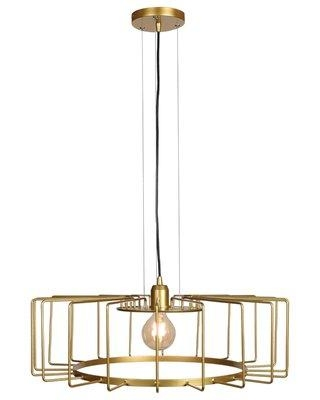 Shop Deals For Williston Forge Mcelrath Cage 1 Light Single Geometric Pendant Finish Gold In Gold Black Size Large 17 29 Wide Wayfair