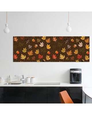 "East Urban Home 'Autumn Colours Panoramic' Graphic Art Print on Wrapped Canvas ERBS7033 Size: 16"" H x 48"" W x 1.5"" D"
