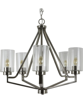 Decor Therapy Bolton 5-Light Crystal and Clear Chandelier