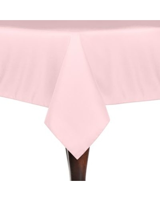 Solid Linen 60-Inch x 108-Inch Oblong Tablecloth in Pink Blush