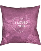 "Brayden Studio Enciso I Loved You Heart Graphic Double Sided Print Pillow BSTU2947 Color: Pink, Size: 28"" x 28"""