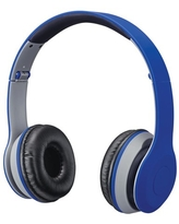 iLive Bluetooth Wireless Headphone with on-ear Controls and Built-in Microphone, IAHB38BU, Matte Blue