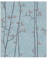 """World Menagerie Hanson Baby Plum Branches 33' L x 21"""" W Textured Wallpaper Roll X111334234 Color: Gray"""