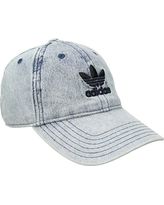 adidas Originals Women's Relaxed Adjustable Strapback Cap, Washed Blue Denim, ONE SIZE