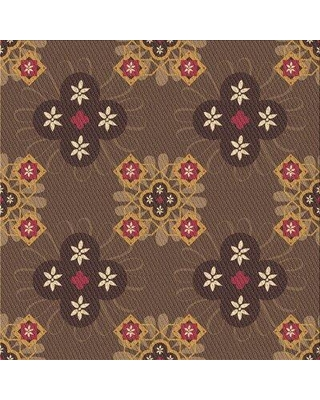 East Urban Home Floral Wool Brown Area Rug W002245819 Rug Size: Square 3'