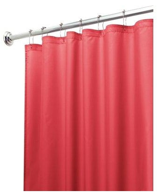 Ebern Designs Wunderlich Mildew Free Water Repellent Single Shower Curtain 146 Color: Red