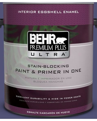 BEHR Premium Plus Ultra 1 gal. #630D-7 Deep Orchid Eggshell Enamel Interior Paint and Primer in One