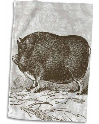Can T Miss Bargains On Symple Stuff Mabie Vintage Brown Pig Hand Towel X111176393