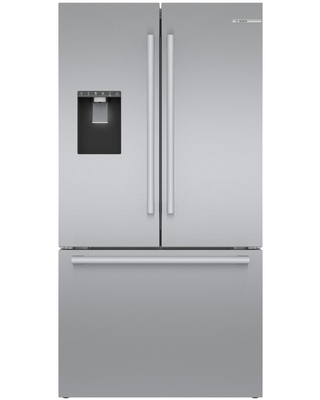 Bosch 500 36 in. 21.6 cu. ft. French Door Refrigerator in Stainless Steel with Fastest Ice Maker, Counter Depth, Silver
