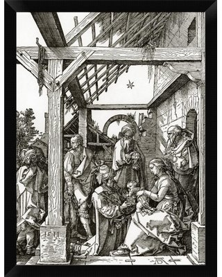 "'The Adoration of the Magi' Framed Graphic Art Print East Urban Home Size: 16"" H x 12"" W"