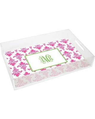 Kelly Hughes Designs Everyday Tabletop Damask Lucite Tray tray919
