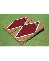 All American Tailgate Matching Diamond Cornhole Board PT-27 Color: Maroon and Gold