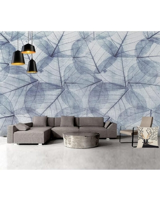 Great Prices For Monochrome Leaf Pattern Modern Removable Textile Wallpaper H 49 X W 75