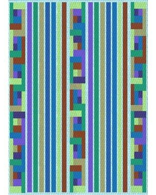 East Urban Home Hunsaker Striped Wool Blue Area Rug X111486955 Rug Size: Rectangle 4' x 6'