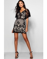 Womens Boutique All Over Lace Bodycon Dress - Black - 10