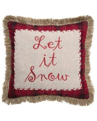 """Carstens Inc. 18"""" Throw Pillow, Polyester/Polyfill/Polyester/Polyester blend in Red/White, Size 18X18"""" 