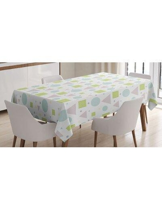 East Urban Home Abstract Art Colored ArtworkTablecloth FCLQ8093