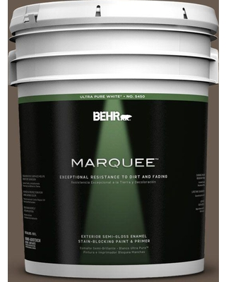 BEHR MARQUEE 5 gal. #PPU5-02 Aging Barrel Semi-Gloss Enamel Exterior Paint and Primer in One