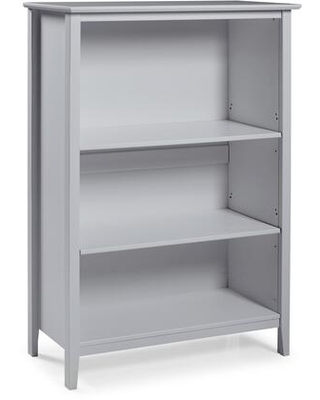 """Simplicity Collection AJSP0580 48""""H Wood 3-Shelf Bookcase Dove"""