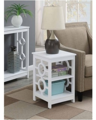 Copper Grove Ring End Table (White)