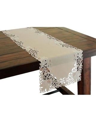 """Xia Home Fashions Scrolling Rose Embroidered Cutwork Table Runner XD140391 Size: 72"""" W x 15"""" L"""