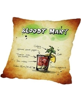 """East Urban Home Bloody Mary Cocktail Throw Pillow ESHM2007 Size: 20"""" H x 20"""" W x 2"""" D"""