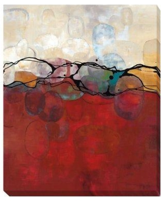"""Artistic Home Gallery 'Retro Jewels II' by Laurie Maitland Painting Print on Wrapped Canvas 501CG Size: 24"""" H x 16"""" W x 1.5"""" D"""