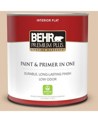 Find Savings On Behr Premium Plus 1 Qt N260 2 Almond Latte Flat Low Odor Interior Paint And Primer In One