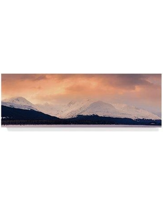 """Millwood Pines 'Alaskan Sky' Graphic Art Print on Wrapped Canvas MLWP5114 Size: 10"""" H x 32"""" W x 2"""" D"""