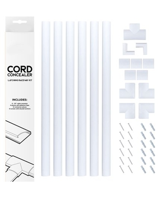 Cable Cover Management Raceway Kit by Edison Supply (White)