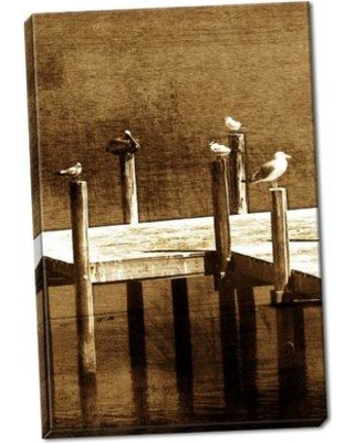 Highland Dunes 'Sea Birds II' Photographic Print on Wrapped Canvas BF056178