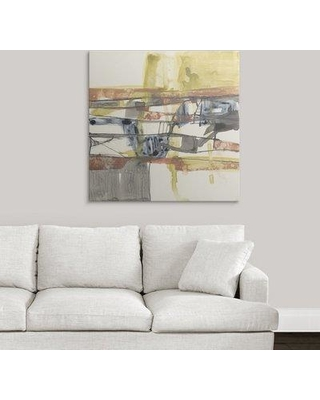 "Great Big Canvas 'Stepped Abstract I' Jennifer Goldberger Painting Print 2410158_1_ Size: 35"" H x 35"" W x 1.5"" D Format: Canvas"