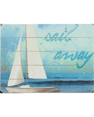 Artehouse LLC Sail Away Graphic Art Print Multi-Piece Image on Wood 0402-4394-26