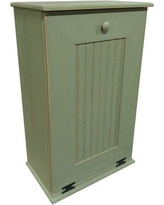 Rebrilliant Manual Solid Pull Out Trash Can in Small REBR2066 Color: Old Sage