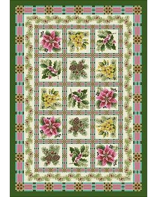 "The Holiday Aisle Norsworthy Yuletide Garden Green Area Rug W000335066 Rug Size: Rectangle 5'4"" x 7'8"""
