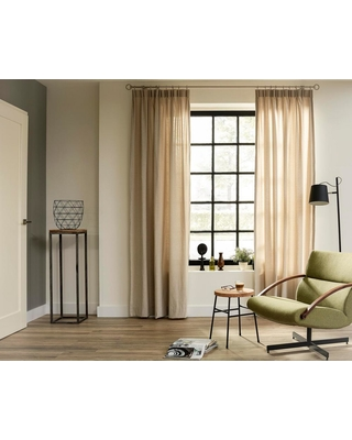 LTL Home Products 20 MM 95 in. Intensions Curtain Rod Kit in Brushed Nickel with Round Finials with Adjustable Brackets and Rings