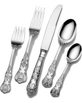 Wallace Queens 65-Piece 18/10 Stainless Steel Flatware Set