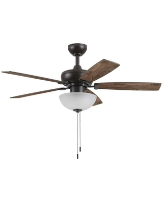 Great Deal On Harbor Breeze 44 In Bronze Led Indoor Ceiling Fan With Light 5 Blade Sd44nwz5ls