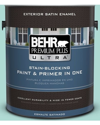 BEHR ULTRA 1 gal. #M450-3 Wave Top Satin Enamel Exterior Paint and Primer in One