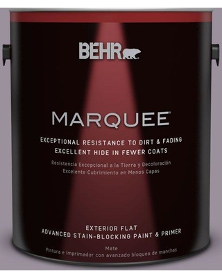 BEHR MARQUEE 1 gal. #PPU16-13 Duchess Lilac Flat Exterior Paint and Primer in One