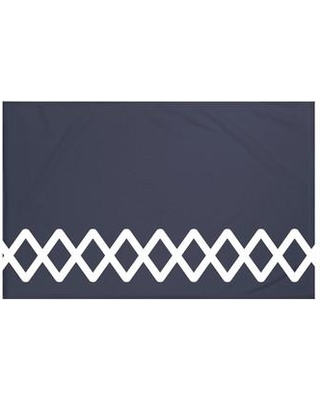 "Breakwater Bay Rozek Geometric Print Fleece Throw BRWT6001 Size: 60"" L x 50"" W Color: Navy Blue"