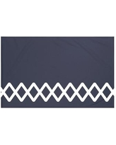 "Breakwater Bay Vanguard Geometric Print Throw Blanket BRWT6001 Size: 60"" L x 50"" W, Color: Navy Blue"
