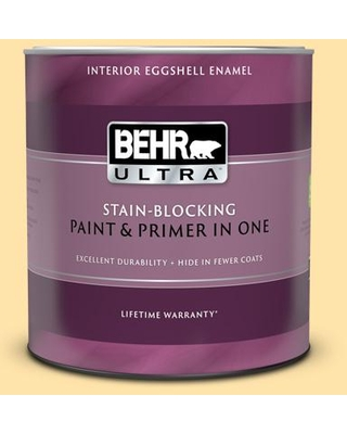 New Deal For Behr Ultra 1 Qt P270 3 Sunflower Seed Extra Durable Eggshell Enamel Interior Paint And Primer In One