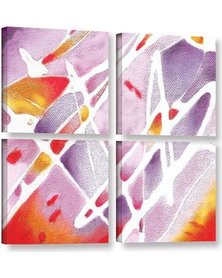 Here S A Great Deal On Latitude Run Purple Haze 4 Piece Painting Print On Wrapped Canvas Set Canvas Fabric In Red Brown Purple Size 48 H X 48 W X 2 D