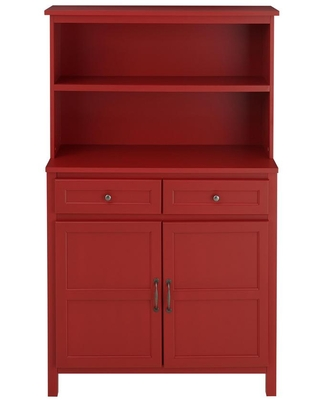 New Deal On Stylewell Chili Red Wood Transitional Kitchen Pantry 36 In W X 58 In H