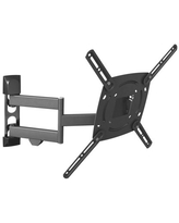 Barkan 29 - 65 inch Full Motion - 4 Movement TV Wall Mount Black Touch & Tilt Screen Leveling Cable Management 10 Year Warranty