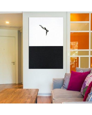"""East Urban Home Dive Photographic Print on Wrapped Canvas ESHM8524 Size: 18"""" H x 12"""" W x 1.5"""" D"""