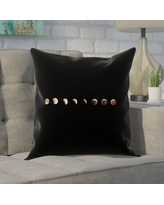 """Brayden Studio Shepparton Moon Phases 100% Cotton Pillow Cover BYST5090 Size: 18"""" x 18"""""""