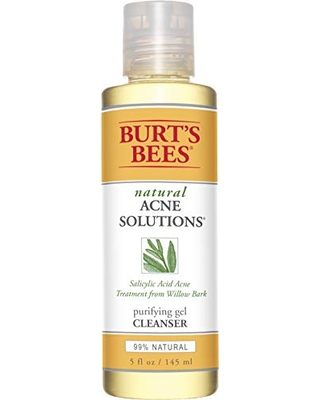 Burt's Bees Natural Acne Solutions Purifying Gel Cleanser, Face Wash for Oily Skin, 5 Oz (Package May Vary)